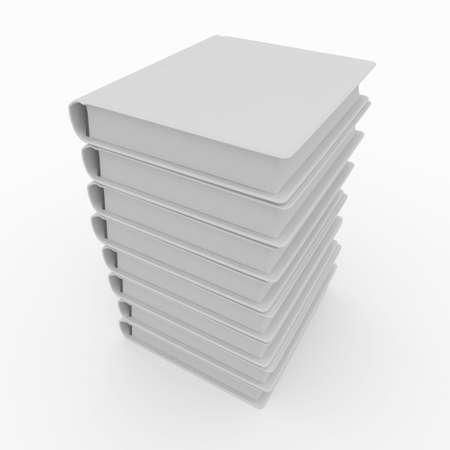 3d blank books isolated on white Stock Photo - 8065951