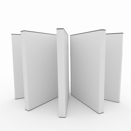 3d blank dvd box isolated on white photo