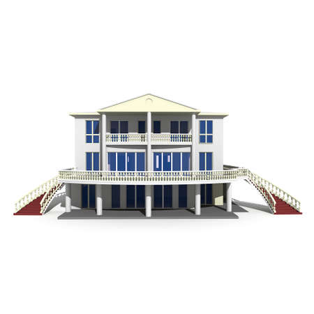 3d house isolated on white rendered generic Stock Photo - 8065997