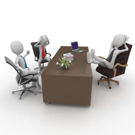3d man at the office meeting isolated on white Stock Photo - 8187480