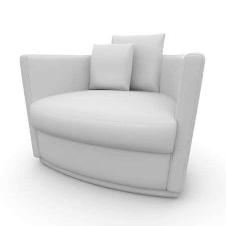 3d furniture detailed chair isolated on white photo