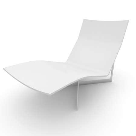 3D silla de muebles detallada aislado en blanco