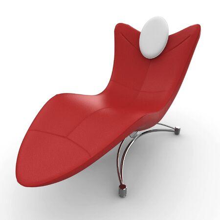 3D sofá detallada de muebles aislado en blanco Foto de archivo