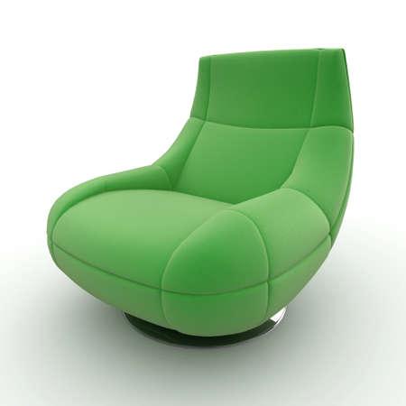 3D sofá detallada de muebles aislado en blanco