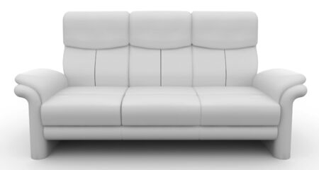 3d furniture detailed sofa isolated on white photo