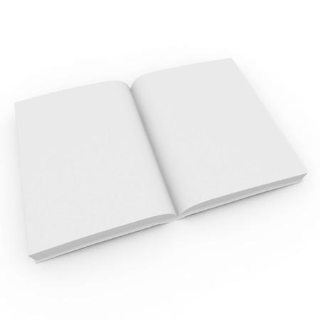 illiteracy: libro 3D de blanco en blanco aislado en blanco