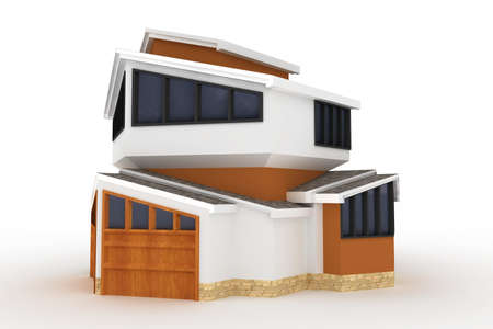 3d house isolated on white rendered generic Stock Photo - 8187894