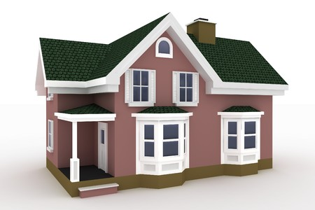 3d house isolated on white rendered generic Stock Photo - 8187834