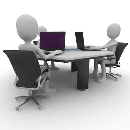 3d man at the office isolated on white Stock Photo - 8188112