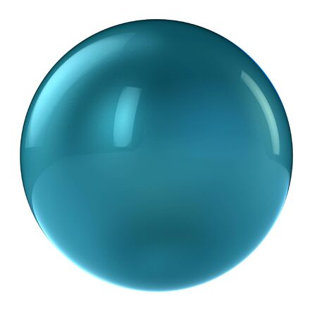 3D-aqua sphere in studio-omgeving geïsoleerd op wit