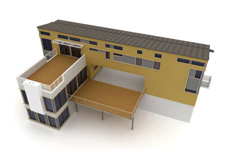 3d house isolated on white rendered generic Stock Photo - 8218009