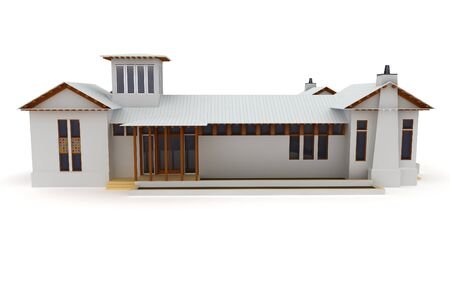 3d house isolated on white rendered generic Stock Photo - 8217968