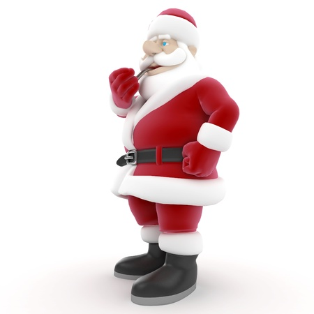 3d man santa claus isolated on white photo