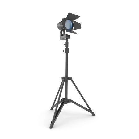 3d studio light with stand isolated on white Stock Photo - 8370826