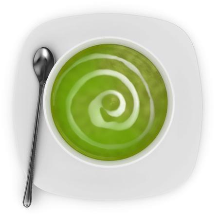 peas: Fresh Cream of Broccoli soup