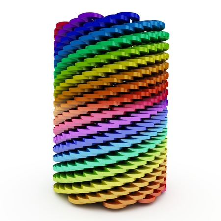3d abstract twisted cylinder isolated on white Stock Photo - 8523562