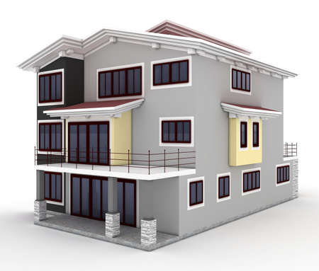 3d house isolated on white rendered generic Stock Photo - 8782582