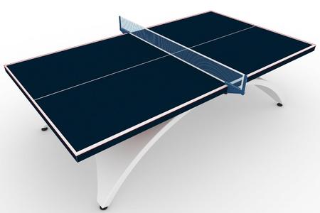 ping pong: Mesa de ping-pong 3D aislado en blanco