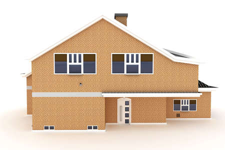 3d house isolated on white rendered generic Stock Photo - 8857882