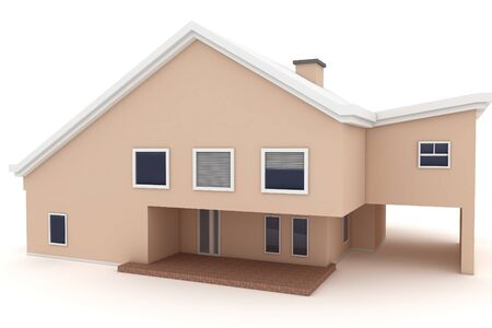 3d house isolated on white rendered generic Stock Photo - 8857870