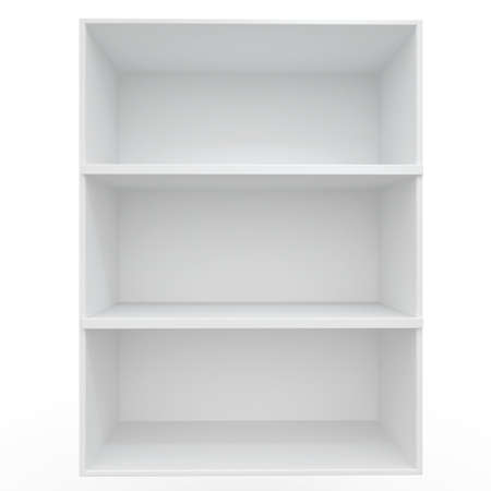 3d Empty shelves for exhibit isolated on white Stock Photo - 8942439