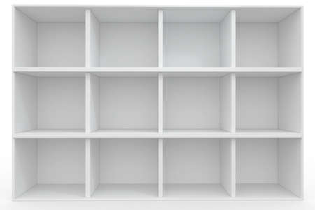 3d Empty shelves for exhibit isolated on white Stock Photo - 8942454