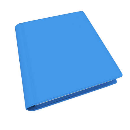 3d  blue book with blank cover isolated on white Stock Photo - 9010725