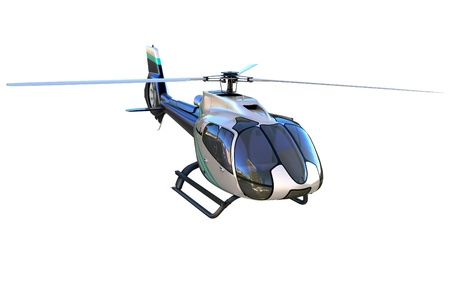 helicopter: 3d detailed helicopter isolated on white