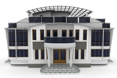 3D Haus isoliert auf weiss gerendert generic