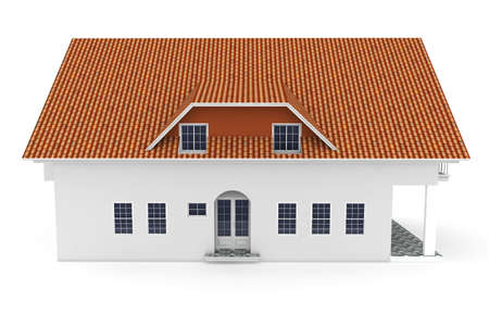 3d house isolated on white rendered generic Stock Photo - 9345071