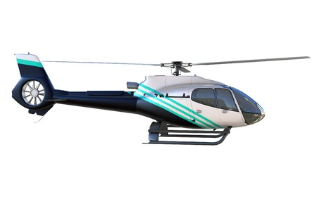 rescue helicopter: 3d detailed helicopter isolated on white