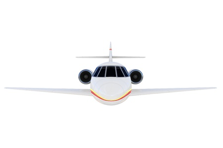 3d private plane isolated on white background photo