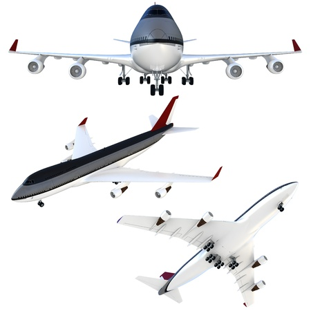 passanger: 3d passanger collection plane isolated on white background