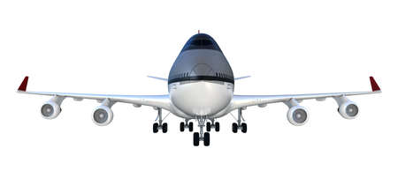 3d passanger plane isolated on white background photo
