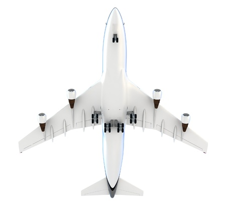 passanger: 3d passanger plane isolated on white background Stock Photo