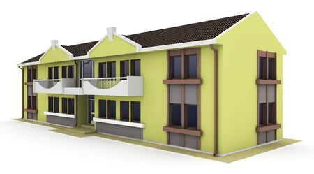 3d house isolated on white rendered generic Stock Photo - 9446025