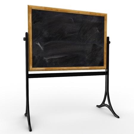 3d school mobile blackboard isolated on white photo