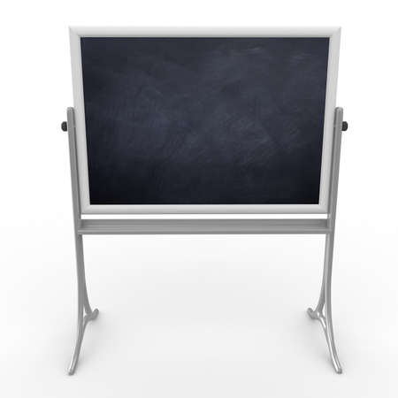 3d school mobile blackboard isolated on white Stock Photo - 9447817
