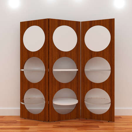 3d Empty shelves for exhibits Stock Photo - 9593933