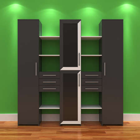 3d Empty shelves for exhibits Stock Photo - 9593926
