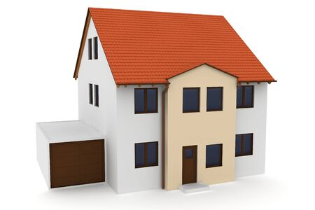 3d house generic rendered  on white  background Stock Photo - 10954162