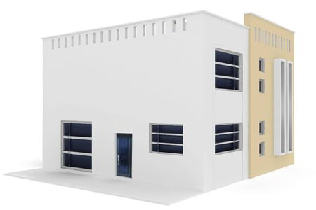 3d model: 3d house generic rendered  on white  background Stock Photo
