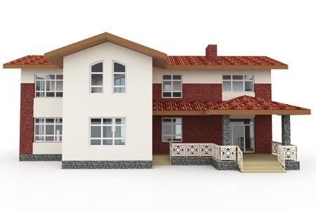 fachadas de casa: 3d casa de gen�ricos representa sobre fondo blanco