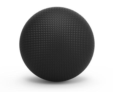 fibra de carbono: De fibra de carbono 3d esfera sobre fondo blanco Foto de archivo