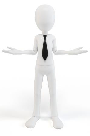 lenguaje corporal: El cuerpo del hombre 3d concepto de lenguaje Foto de archivo
