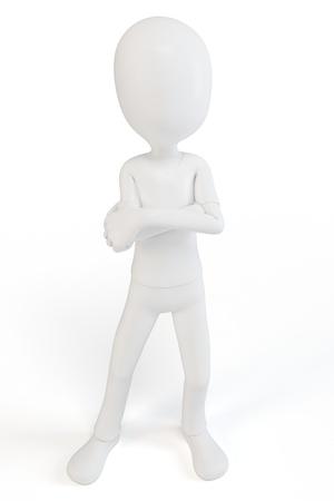 3d man lichaamstaal begrip