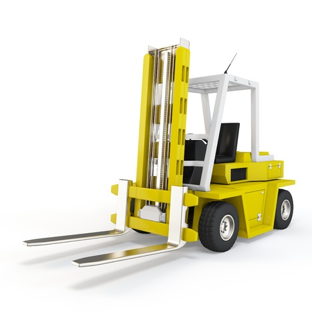 lift truck:  on white background