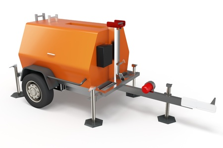 petrol powered: 3d mobile power generator on white background