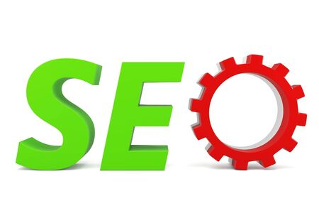 3d seo Search Engine gears on white background Stock Photo - 13720534