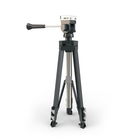 tripods: 3d detailed camera tripod on white background Stock Photo